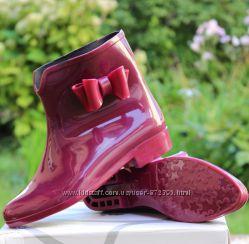 Силиконовые ботинки бордо