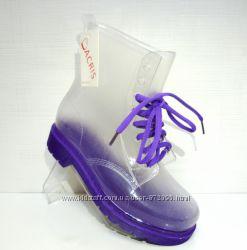Прозрачные ботинки с фиолетовым оттенком