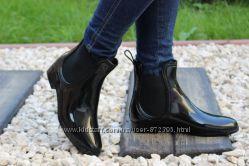 Силиконовые ботинки с резиновой вставкой