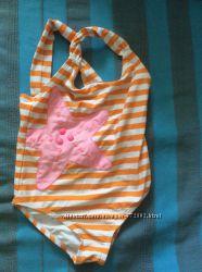 Продаю детский совместный пляжный купальник и пляжные тапочки набор