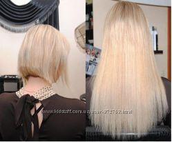 Волосы Блонд, длинные термо Без наращивания на Заколках