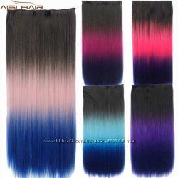 Волосы цветные Омбре трессы
