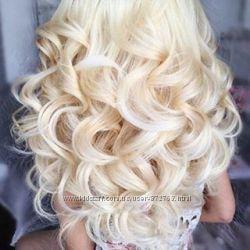 Трессы волосы Блонд, светлые тона