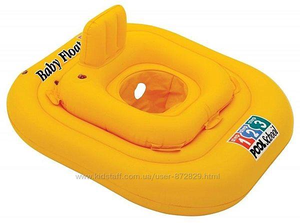Надувной Круг - Baby Float Intex 56587  с отверстиями для ног и спинкой  79х79 см