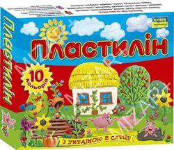 Пластилін Моя країна 10 кольорів 140 г. , Ц259016У, Мицар
