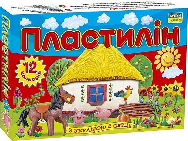 Пластилін Моя країна 12 кольорів 165 г. , Ц259017У, Мицар