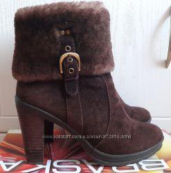 Зимние полусапожки ботиночки Braska натуральная замша мех