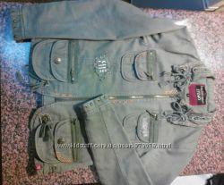 Красивая стильная модная куртка цвет хаки