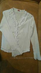 Красивая нарядная богатая элегантная белая женская блуза рубашка