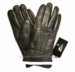 Мужские кожаные перчатки на кролике