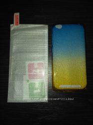Силиконовый чехол и стекло на Xiaomi Redmi 3 и 3 Pro