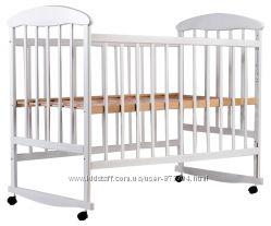 Детская кроватка Наталка ольха БЕЛАЯ от производителя  дитяче ліжечко біле
