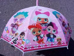 Зонт-трость детский LOL, Minecraft, Тачки, Пони. Много нацветок. прозрачный