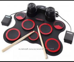 Электронный барабан складной силиконовый