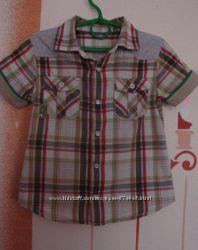 Рубашечка на кнопках Mothercare 4-5 лет короткий рукав