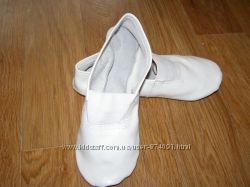 Чешки белые для танцев гимнастики 23 размера