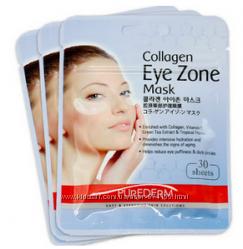 Коллагеновые маски под глаза Collagen Eye Zone Рurederm, 30шт. на 15 примен
