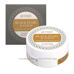Гидрогелевые патчи для кожи вокруг глаз PETITFEE Black Pearl & Gold Hydroge
