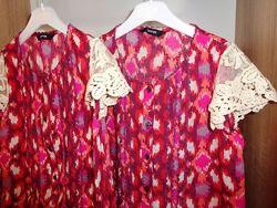 Блуза George кружево девочке р 128-134 двойня близнецы