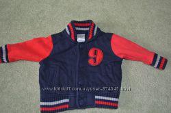 Бомбер, летняя куртка для малыша 0-3 мес. на кнопочки