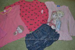 Регланы, джинсовая юбка на девочку 3- 4 года пакет