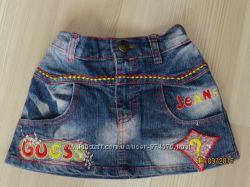 Джинсовая юбка 2-4 года