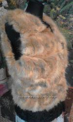 Натуральный жилет лиса-каракуль.
