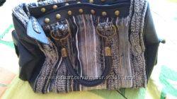 Модна сумка з елементами вязки