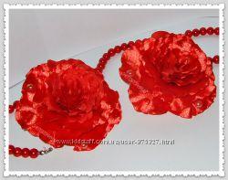 Заколка - Пышная роза 9см