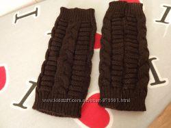 Митенки новые перчатки без пальцев, 20 см