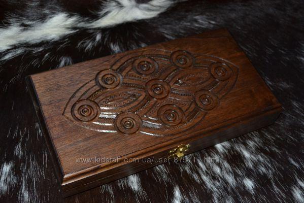 Нарды резьбленные, деревяні нарди, нарди з дерева ручної роботи