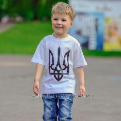 Детская патриотическая футболка Тризуб