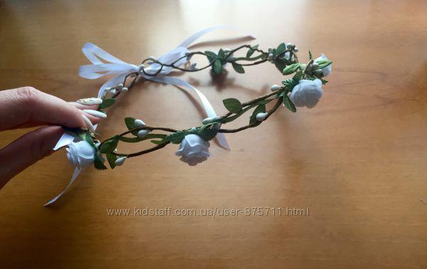Венок из цветов на голов, для девичника, веночек, для подружек невесты