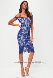 922abde7399 Вечернее платье миди с кружевом Missguided