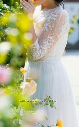 Очень нежное Свадебное Платье с французьким кружевом