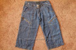 Бриджи тонкий джинс