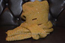 Яркий, качественный фабричный комплект шапка  шарф фирмы Veer Mar.