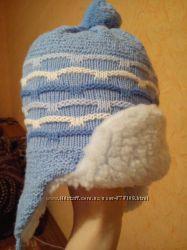Шапочка и шарф на 6-9 месяцев. зима. новая