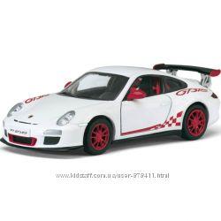 Модель машины 136 2010 Porsche 911 GT3 RS, белая, Kinsmart KT5352W-1