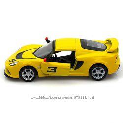 Модель машины 2012 Lotus Exige S, 132, желтый, Kinsmart KT5361W-3