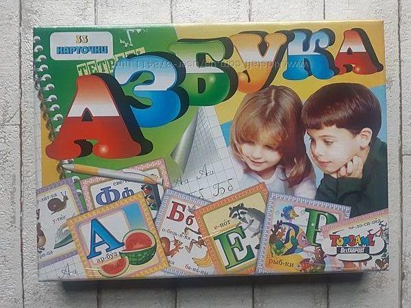 Настольная игра азбука 33 карточки производство Беларусь 00182