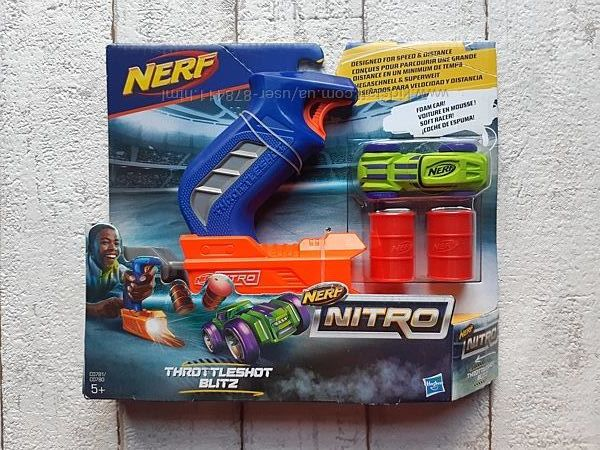 Набор Nerf Nitro Пусковое устройство и машинка Hasbro C0780 C0781