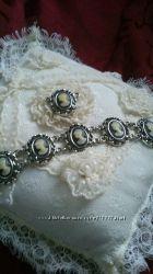 Срібний комплект з камеями Санкт-Петербург