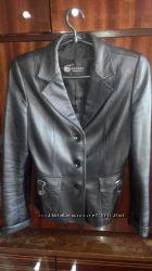 пиджак кожа б. у размер хл