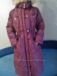 Brums пальто-пуховик для девочки до 152 роста.