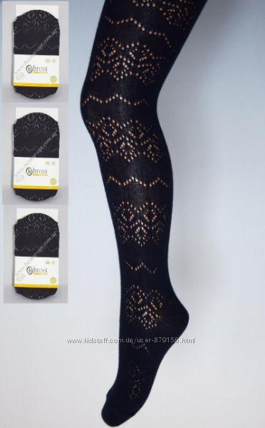 шикарные ажурные колготы BROSS девченкам - появились черные