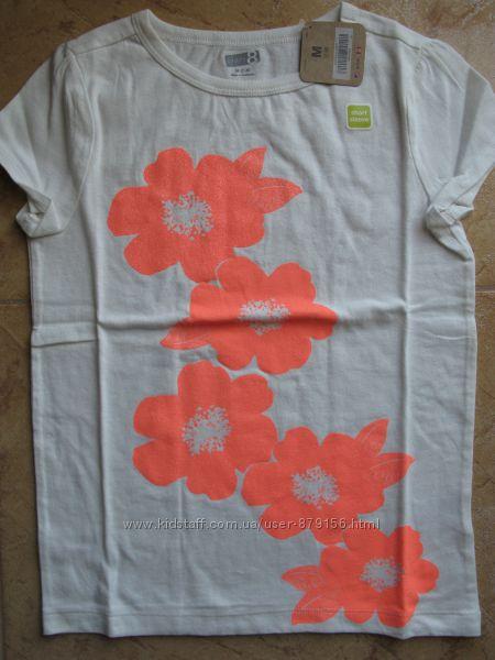 отличные футболочки CRAZY8 и H&M для наших девченок