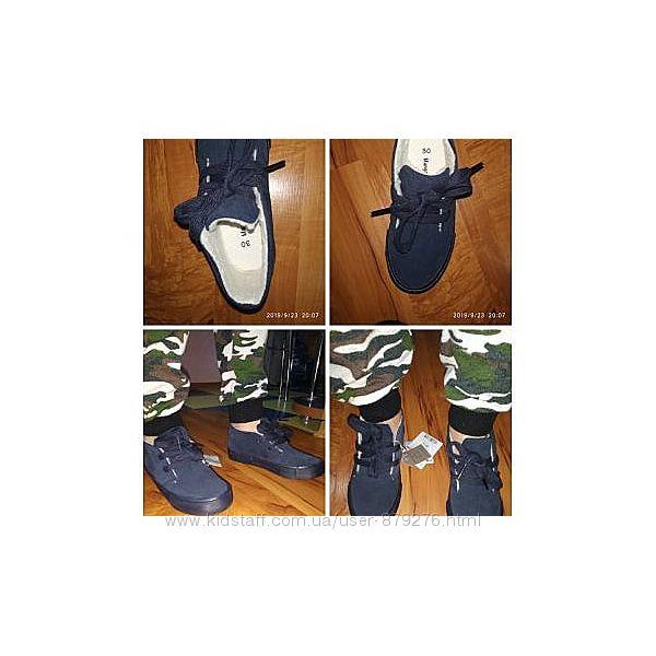 Демисезонные замшевые ботинки кеды