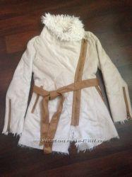 Куртка пальто замш