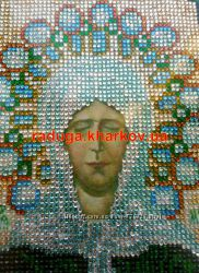 Алмазная вышивка, Матрона, икона, образ, лик, рамка, антибликовое стекло